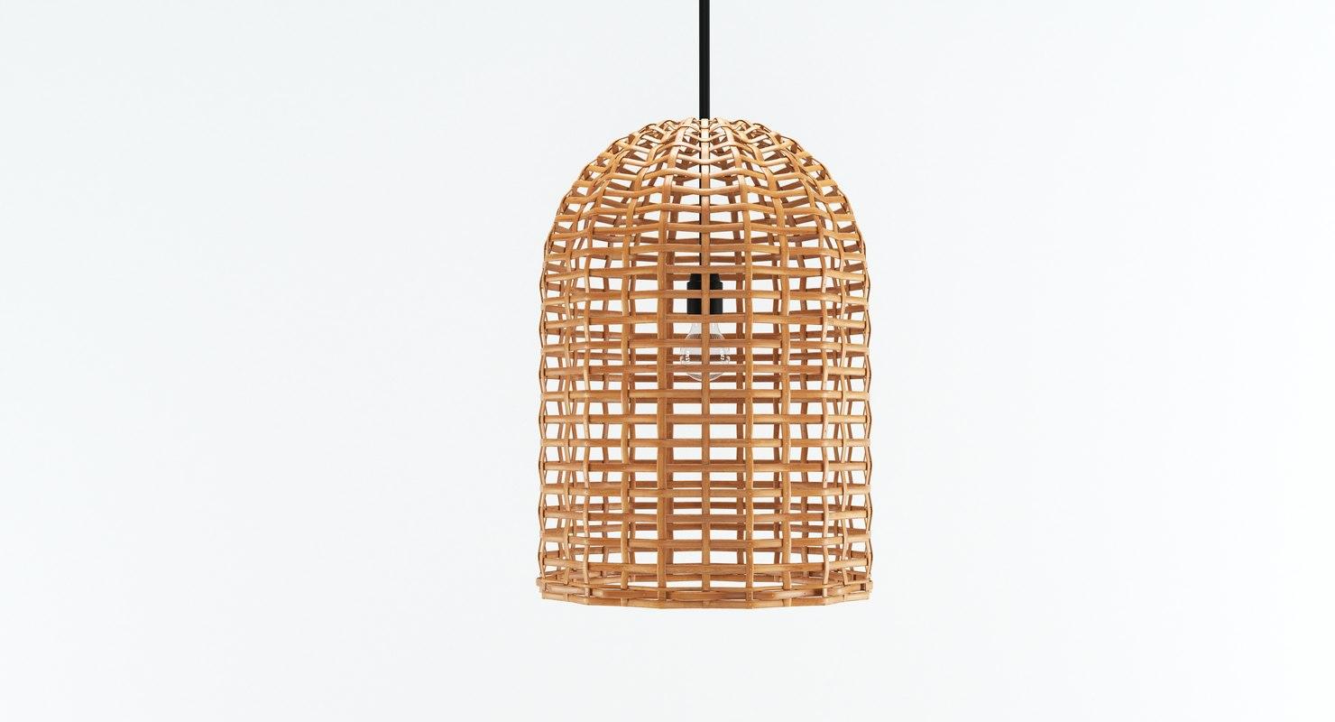 lamp hubsch - bamboo 3D model