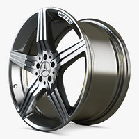 3D mercedes benz amg wheel car model