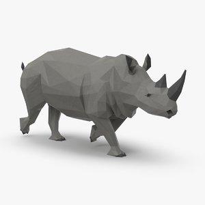 3D rhinoceros----running