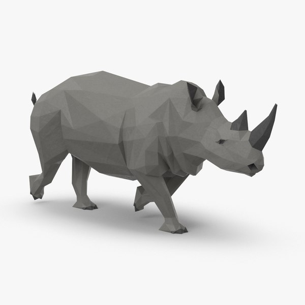3D rhinoceros----running