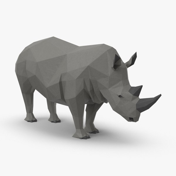 3D model rhinoceros----standing