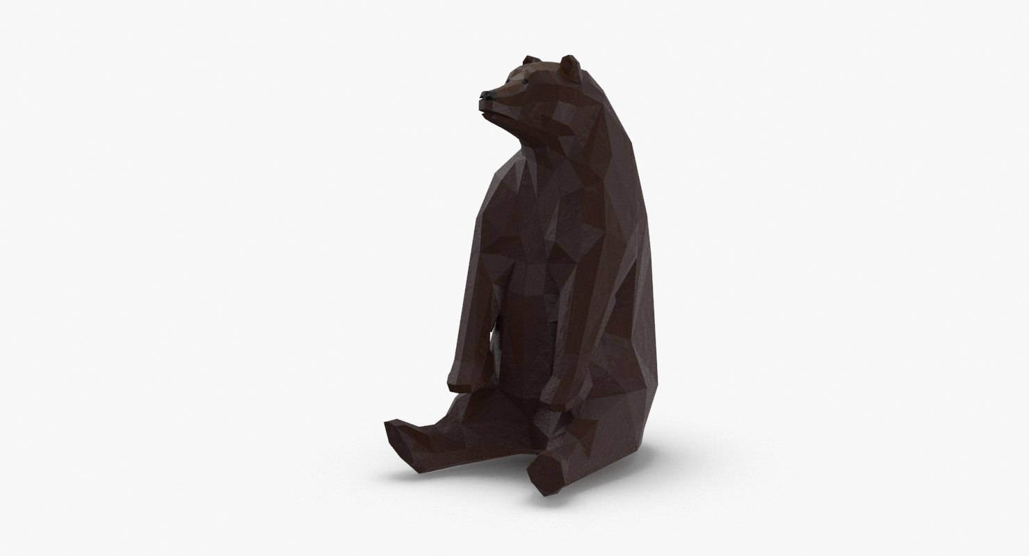 bear---sitting 3D model