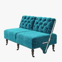 3D eichholtz sofa tte--tte model