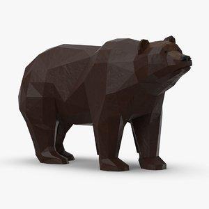 3D bear---standing