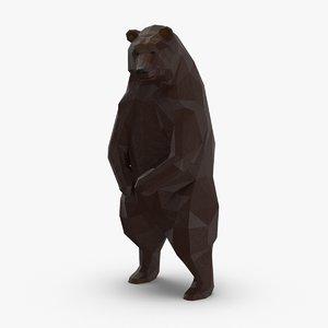 3D bear---upright model