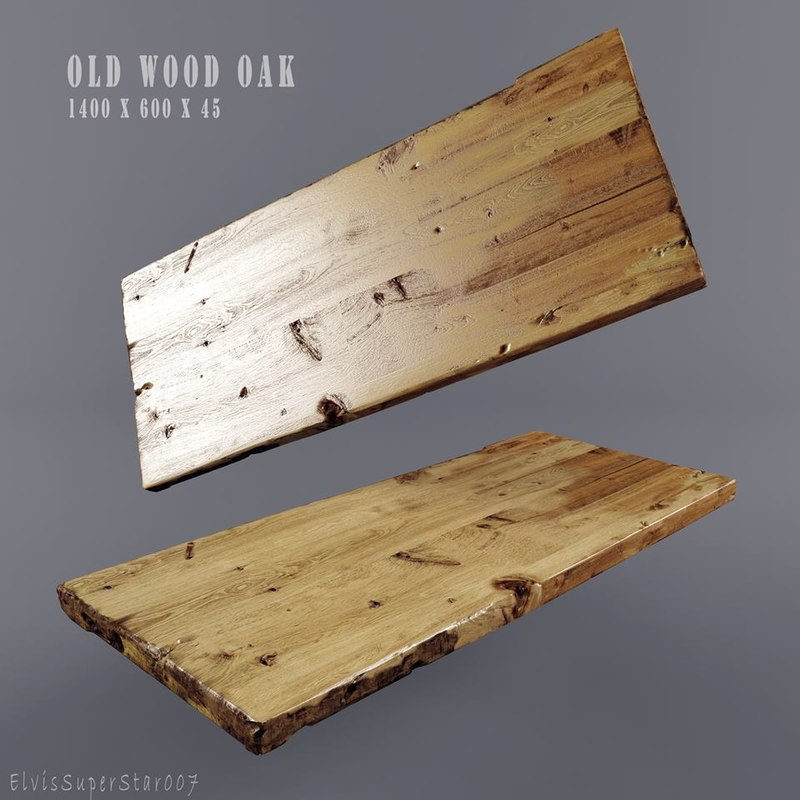 wood old oac 3D model