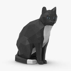 cat---sitting 3D model