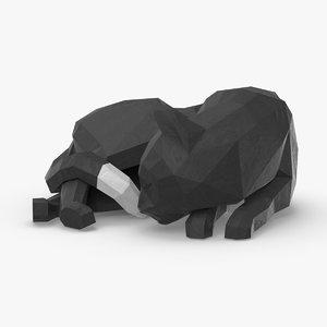 3D cat---sleeping model