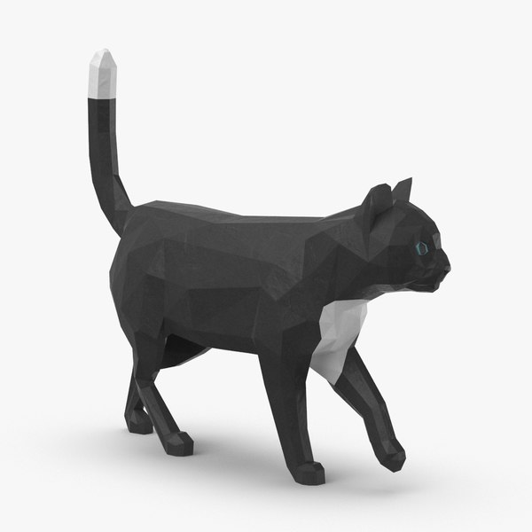 3D model cat---walking