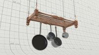 Hanging Pots and Pans Rack