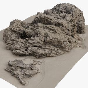 3D rock scan 26 model