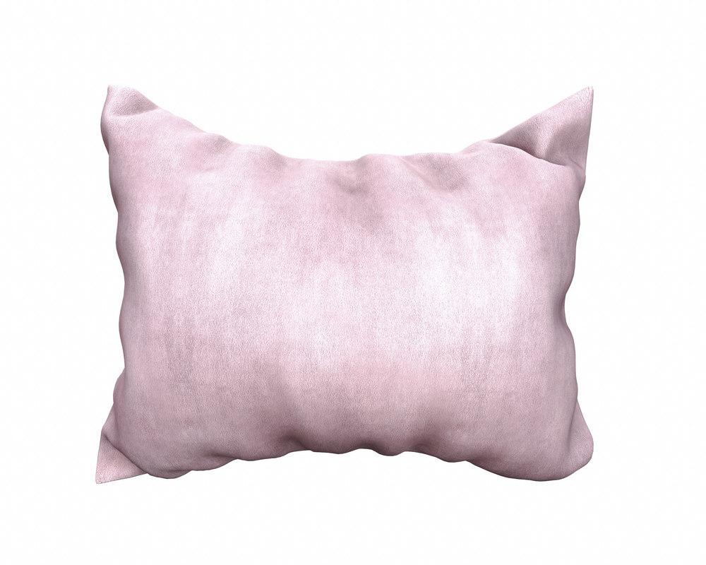 rectangular pillow 3D