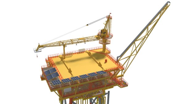offshore wellhead platform 3D model