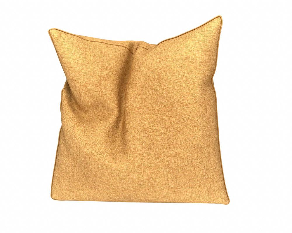 3D orange plain pillow