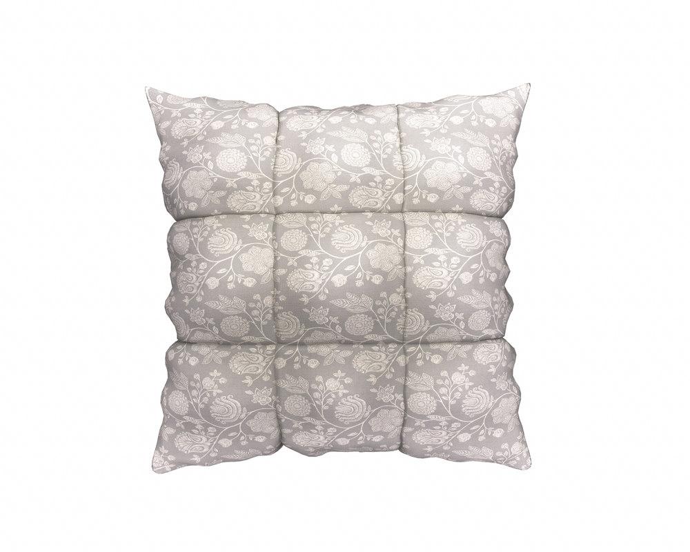 3D square pillow model