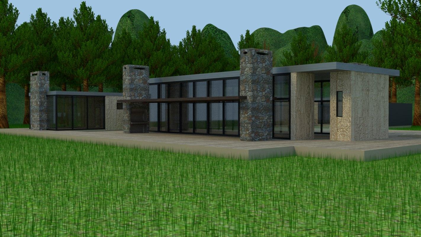 3D house enviroment