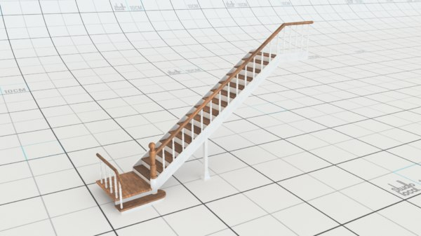 3D staircase redshift model
