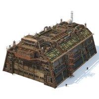 building hangar 3D