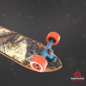 longboard deck games 3D