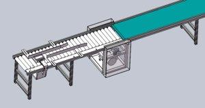 3D model line roller conveyor