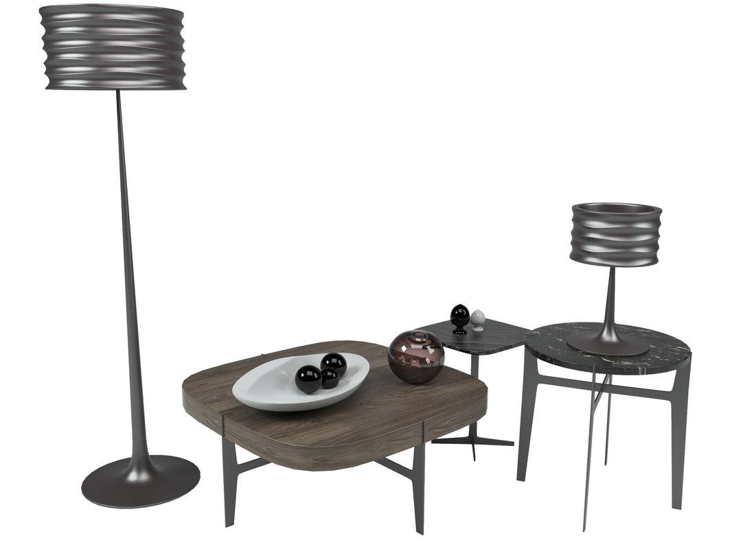 ido table onda 3D model