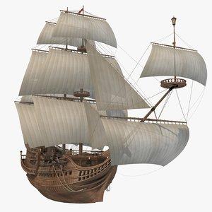 sail ship 3D