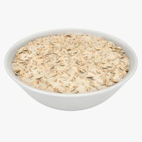 3D oatmeal bowl