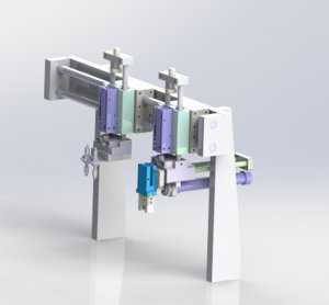 gantry load unload mechanism 3D model
