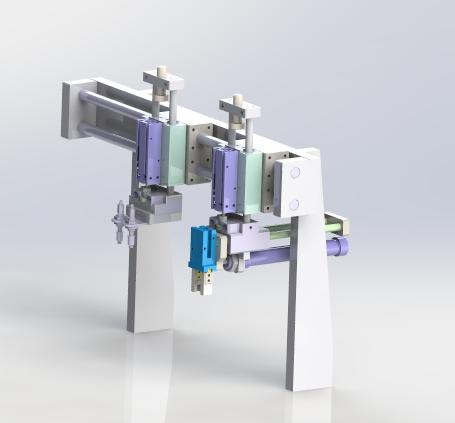 gantry load unload mechanism 3D model