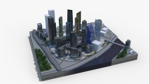 city moscow 3D model