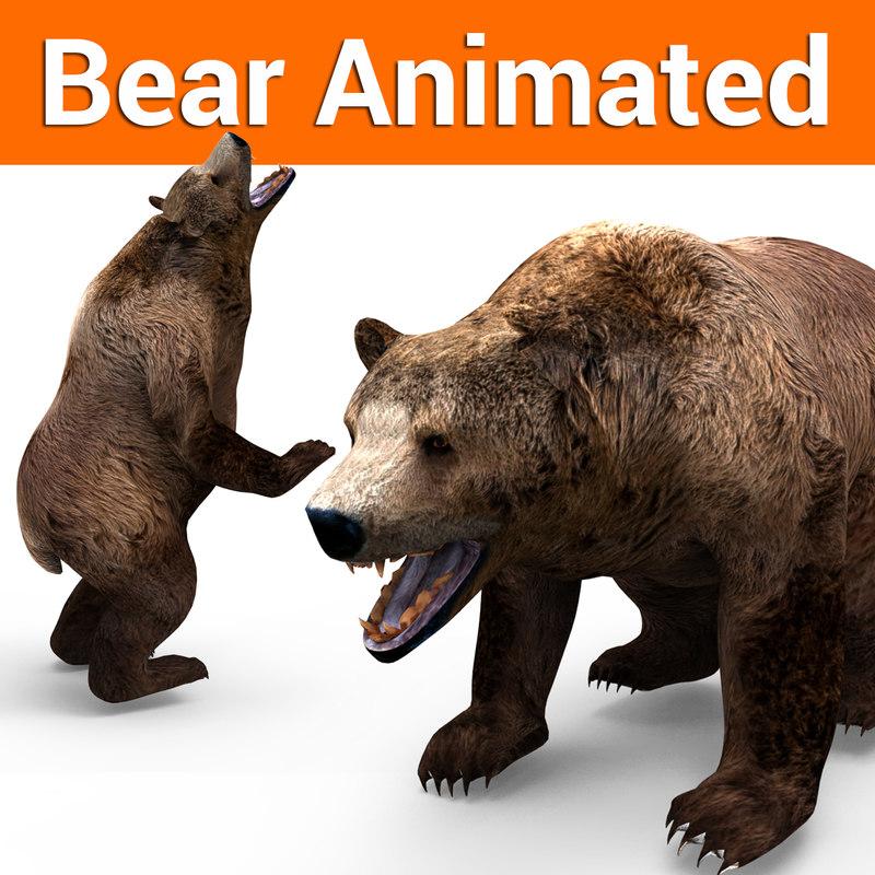 3D brown bear animation