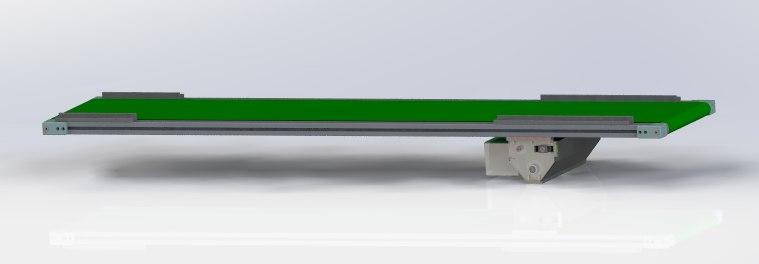 large belt conveyor 3D