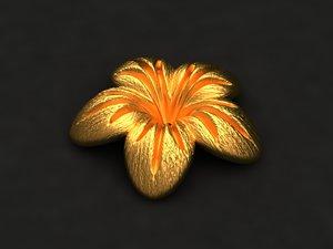3D model flower mold print