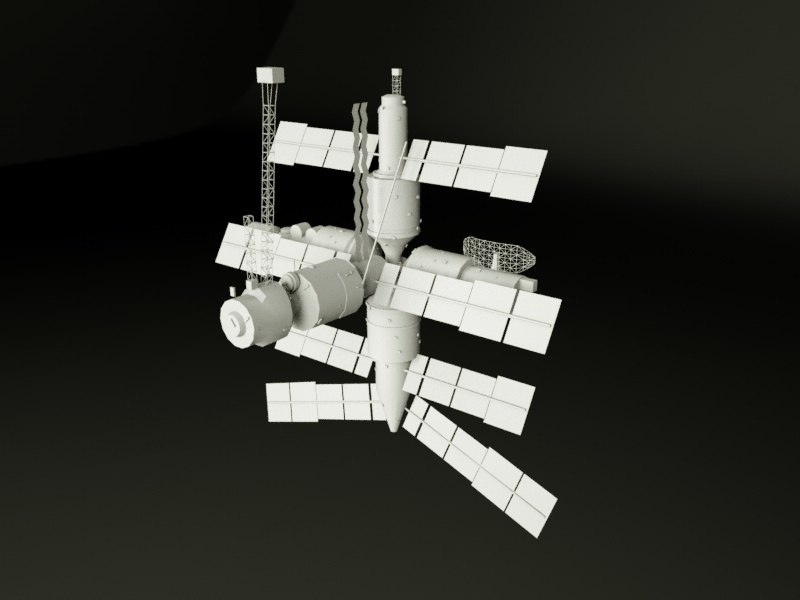 3D model mir space station
