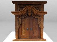 3D gebyog antique furniture