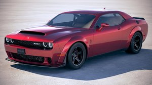 3D dodge challenger srt model