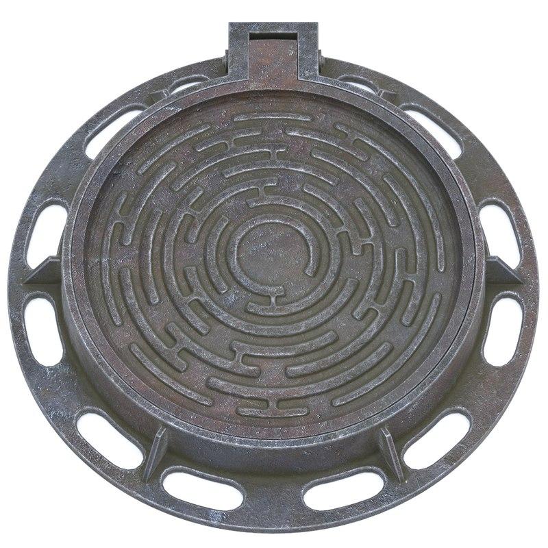 sewer lid model