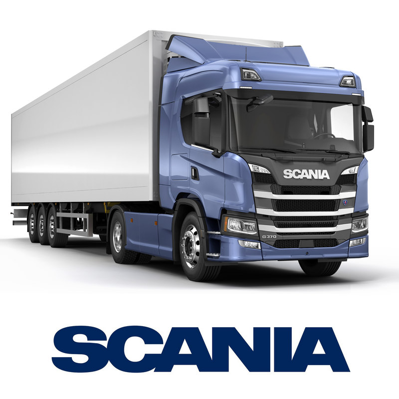 3D scania g-series normal roof