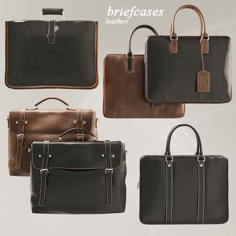 3D case briefcase leather model