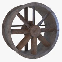 3D model rusted axial flow