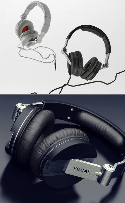 focal spirit headphones 3D model