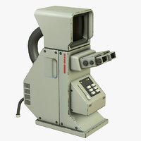 sci-fi microscope pbr 3D
