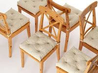 3D model ikea ingolf chair