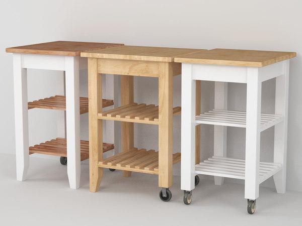 3D ikea bekväm kitchen trolley model