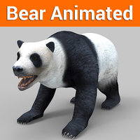 white bear panda animation 3D model