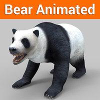 White Bear Panda  Animated