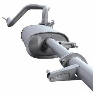 exhaust pipe 3D model