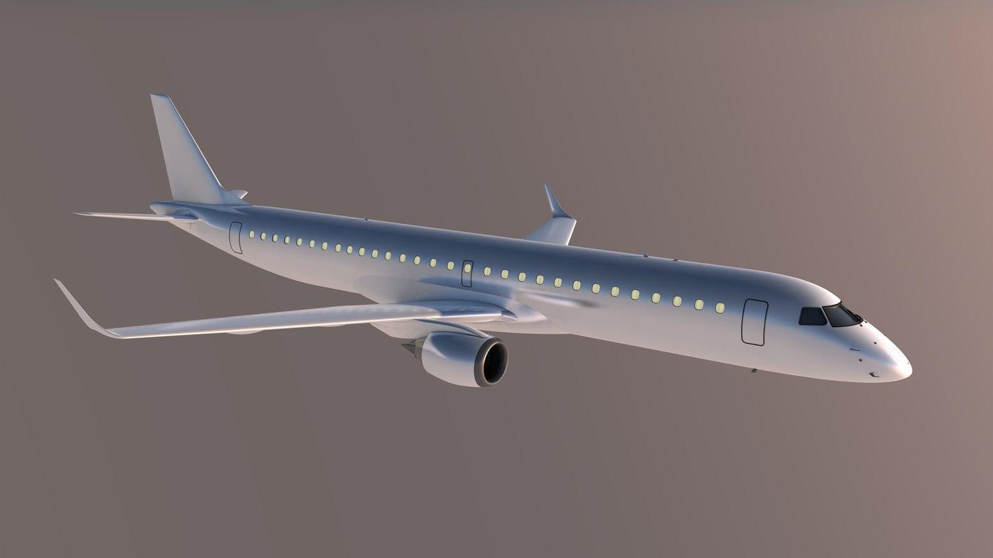 3D embraer e1-195 model