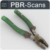 pliers tool old 3D model