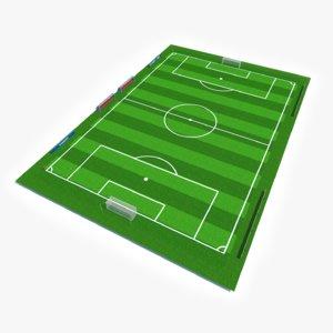3D ready soccer pitch model